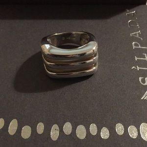 Silpada Design Sterling Silver Cube Ring